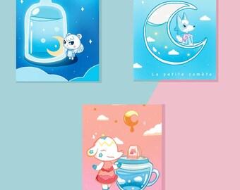 Prints posters displays Animal Crossing ACNH