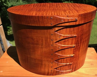 Tiger Maple Shaker Oval Box Size #6 Tall