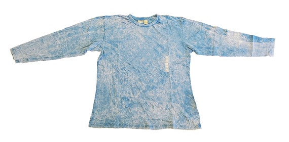 long sleeve tee - Mineral wash Crackle effect | 100% cotton by RockpointMarketplace