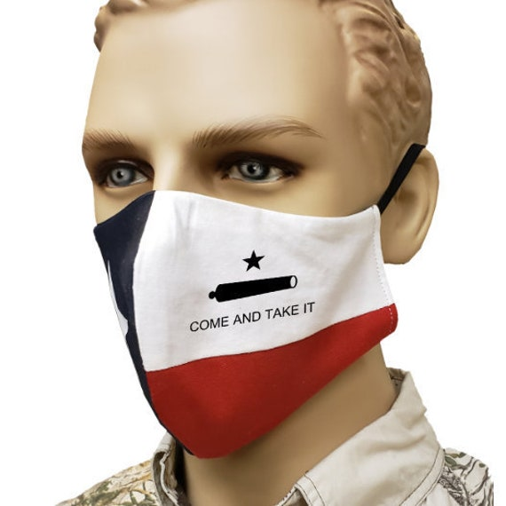 Texas Flag - Come and Take It - Mask | Handmade | 100% Cotton by RockpointMarketplace