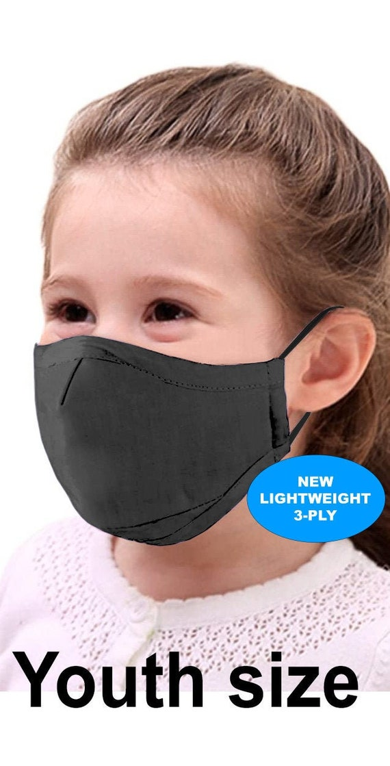 Kids Youth Face Mask | NEW Lightweight fabric by RockpointMarketplace