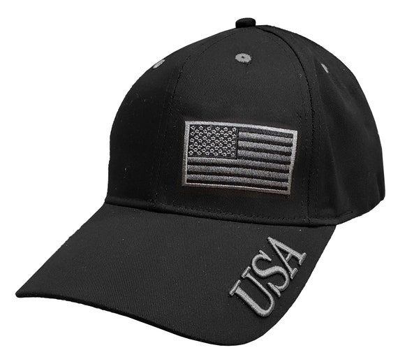 USA Embroidered cap with W/Tone on tone american flag - embroidery by RockpointMarketplace