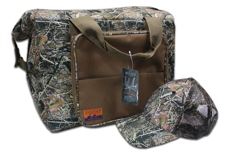 Camo Cooler Bag w/ FREE Cap & Custom Embroidered Name Drop  image 0