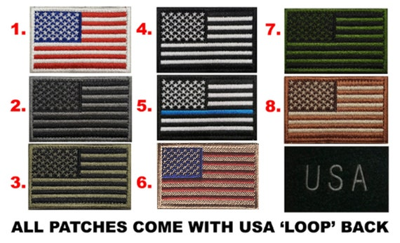 Tactical Morale Patch | Hook & Loop removable patches | USA Flag Patch Caps - Various colors by RockpointMarketplace
