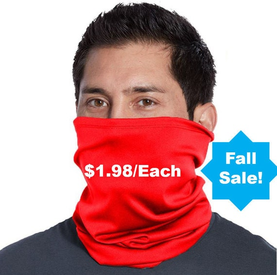 Face mask Neck Gaiter (Mixed colors) | 100% ring spun Cotton by RockpointMarketplace