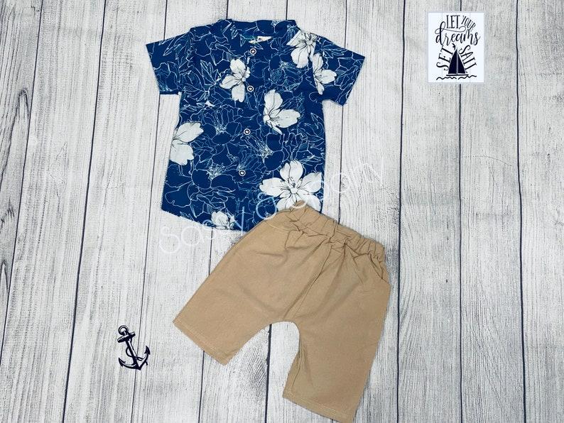 Boys Hawaiian Shorts Set