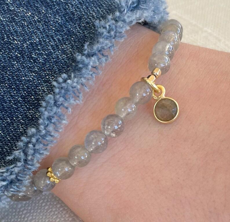Sandalwood /& Rudraksha Stacking Bracelets Charm Bracelet TRANSFORMATION Labradorite Intention Mala Bracelets Layering Stretch Bracelets
