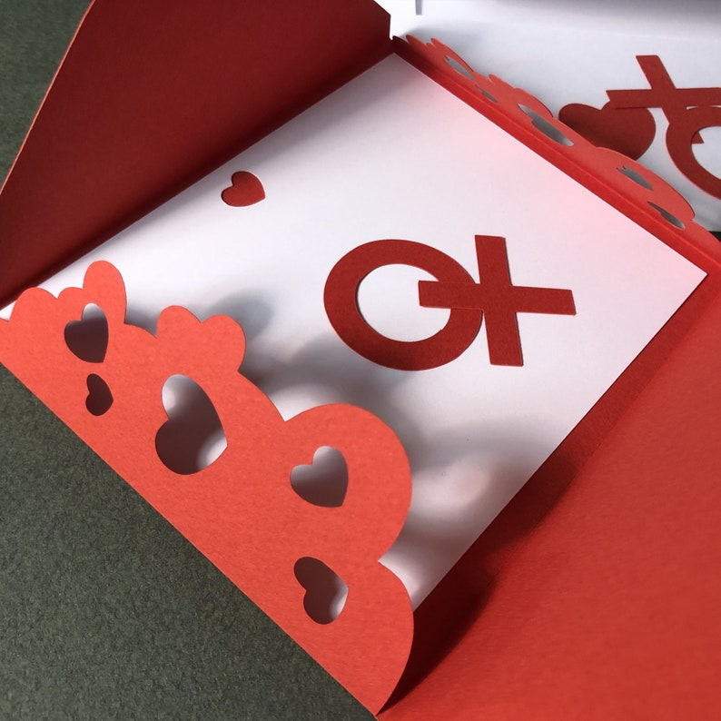 Love Note with Heart Cutouts image 0
