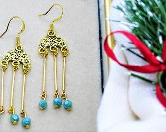 Gorgeous chandelier earrings Christmas gift Birthday gift Gift for her Elagant Handmade