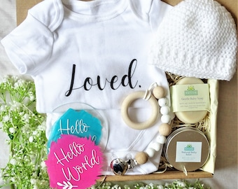 NEW BABY Natural Luxury Gift Box New Mom Hamper Newborn Gift Baby Shower Gift Natural Baby Gifts