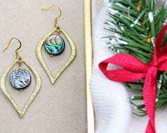 Elegant Paua shell earrings Perfect gift Original design