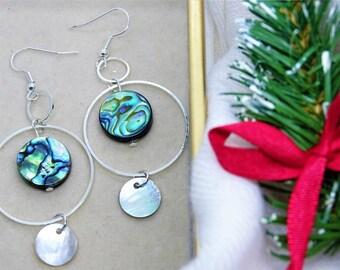 Paua shell Abalone Natural shell earrings Birthday gift Elegant earrings Perfect gift for her