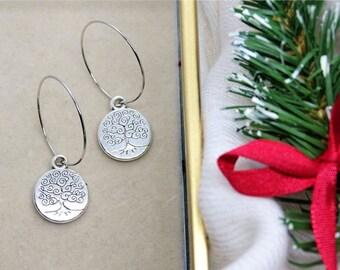 Tree of life hoop earrings Bestseller Gift for her Celtic Birthday gift Christmas