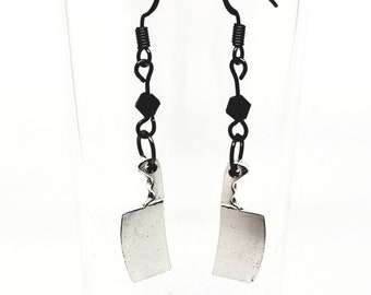 Cleaver Knife Gothic Earrings