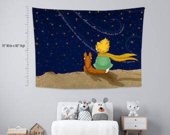 Little Price 1,Kids room,Nursery,Fabric Wall Hanging,Tapestry,Textile Wall Hang,Wall Decoration,Kids room  Decor,Nursery Tapestry,Wall Art