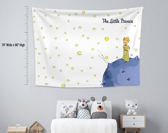 Little Prince 2,Kids room,Nursery,Fabric Wall Hanging,Tapestry,Textile Wall Hang,Wall Decoration,Kids room  Decor,Nursery Tapestry,Wall Art