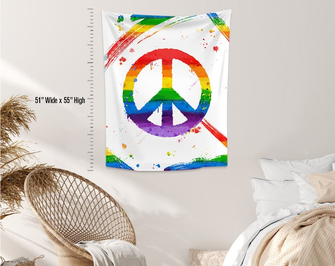LGBTQ+ Gay Tapestry,Wall Hanging,Wall Decoration,Custom Size,Gay Pride Day, Lesbian LGBTQ.Gay Friendly