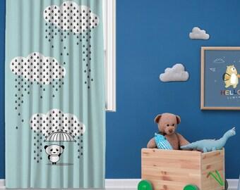 Kids room,Nursery room,Window Curtain 1 panel,Blackout ,Room darkering,Custom size,Made to order, Termal insulited,Noise reducing