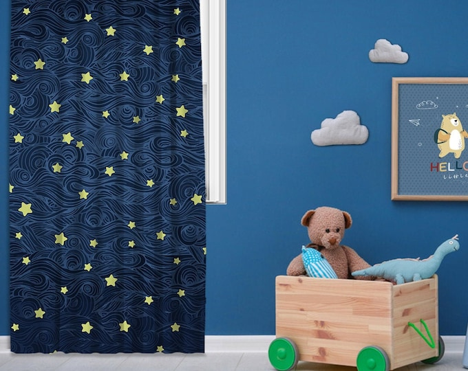 Kids room,Nursery room,Window Curtain 1 panel, Blackout,Room darkering,Custom size,Made to order, Termal insulited,Noise reducing