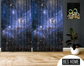 Space-X,Window Curtain 2 panels set, Blackout , Room darkering,Custom size,Made to order, Termal insulited,Noise reducing