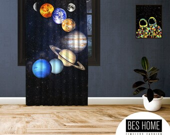 Space-X-IV,Window Curtain 1 panel, Blackout,Room darkering,Custom size,Made to order, Termal insulited,Noise reducing