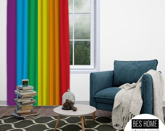 LGBTQ+ Gay Pride Blackout Curtain,Window Panel,Custom Size,Gay Pride Day, Lesbian LGBTQ.Gay Friendly,Thermal Insulated,noise reducing