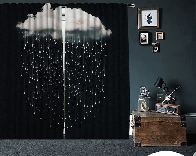 Bon mot,Dreams Cloud,Window Curtain 2 panels,Blackout,Room darkering,Custom size,Made to order, Thermal insulited,Noise reducing