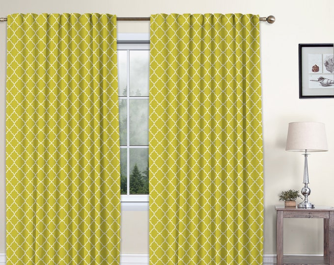 Classic Damask,Mastard Yellow,Window Curtain 2 panels Set,Room Darkering,Custom size,Termal insulated,Noise reducing,Window Treatments
