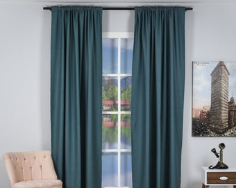 Wool Look,Solid Color,Decorative,Window Curtain 2 panel sets,Custom size,Made to order,Window Treatment,Home Decor