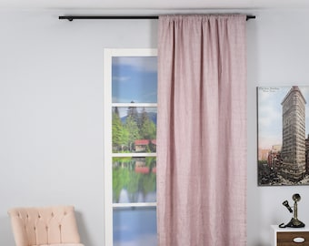 Real Linen,Solid Color, Quality,Decorative,Window Curtain 2 panel sets,Custom size,Made to order,Window Treatment,Home Decor
