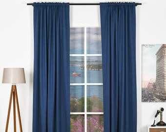 Linen Look,Solid Color,Decorative,Window Curtain 2 panel sets,Custom size,Made to order,Window Treatment,Home Decor