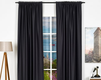 Solid Colors,Window Curtain 2 panel sets,Blackout,Room darkering,Custom size,Made to order,Thermal insulated,Noise reducing