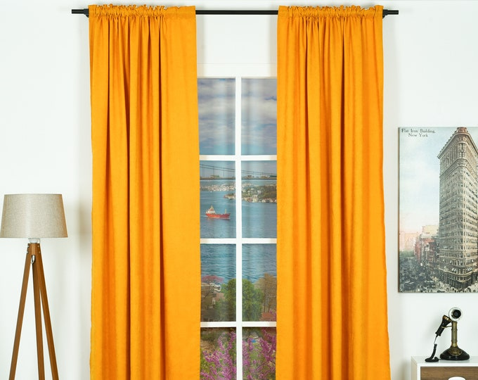 Velvet Look,Solid Color,Decorative,Window Curtain 2 panel sets,Custom size,Made to order,Window Treatment,Home Decore Look,Solid Color