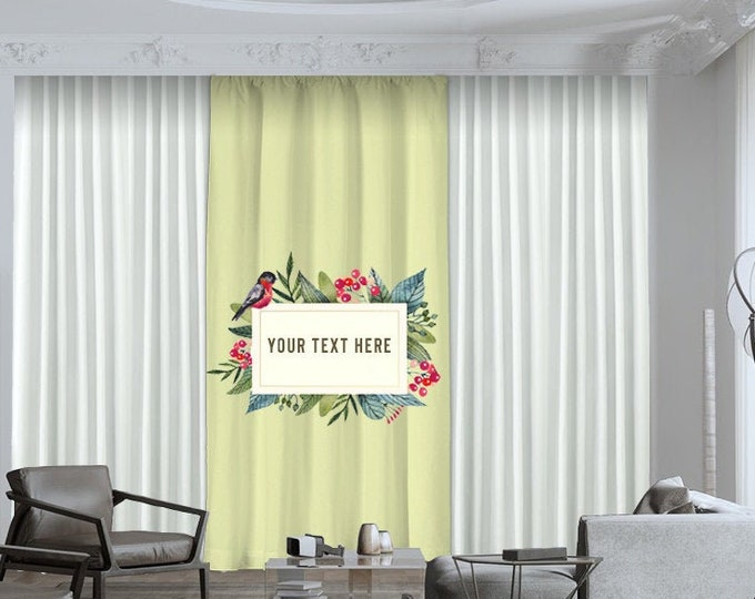 Personalized,Window Curtain 1 Panel,Blackout,Room darkering,Custom Made to order,Thermal insulated,Gift for Him or Her,Office Decor