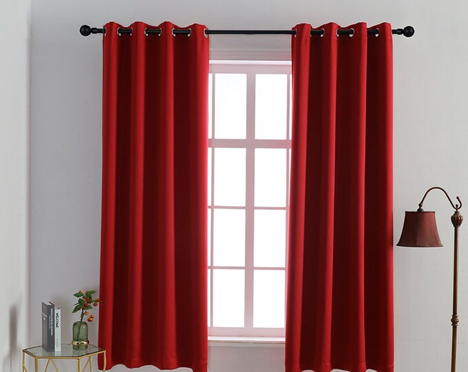 Casanema Home Studio Burgundy Colors,Window Curtain 2 panel sets,Blackout,Room darkering,Custom size,Made to order,Thermal insulated