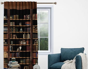 Bookshelf,Window Curtain 1 panel,Blackout,Room darkering,Custom size,Made to order,Thermal insulated,Noise reducing