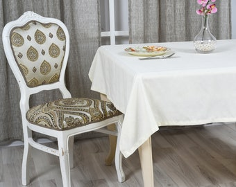 White Velvet Look Tablecloth in 31 colors Softened Velvet Look Tablecloth,Tablecloth with Mitered Corners,Custom Size Tablecloth,Table cloth