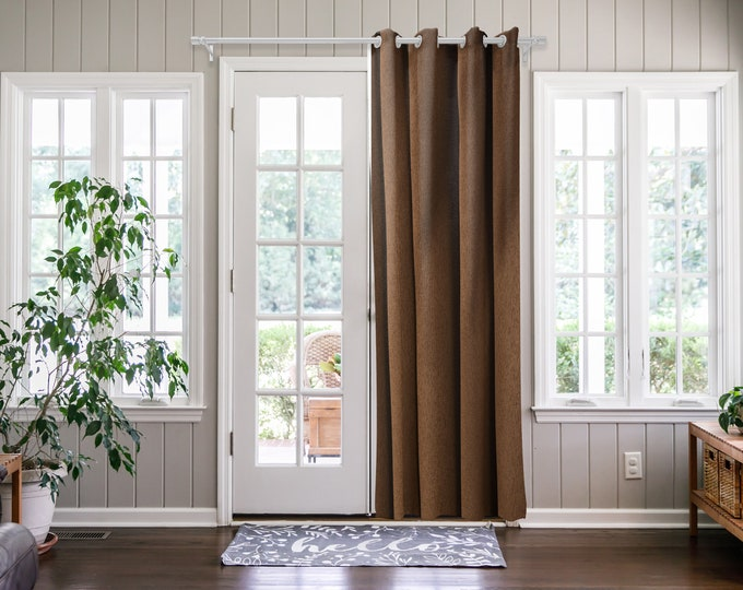 Brown Solid,Door Curtain 2 panel sets,Room Divider,Space Divider,Extra Long Door Curtain,Custom Order,Thermal insulated,Noise reducing