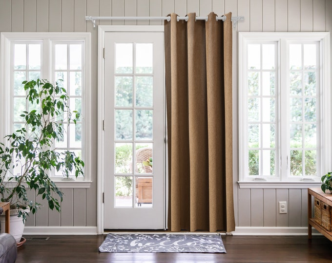 Mocha Solid,Door Curtain 2 panel sets,Room Divider,Space Divider,Extra Long Door Curtain,Custom Order,Thermal insulated,Noise reducing