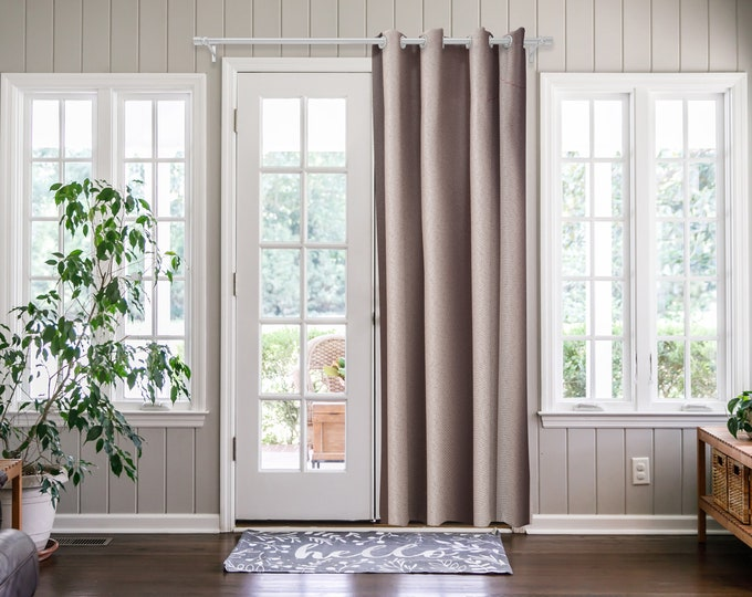Blush Pink  Solid,Door Curtain 2 panel sets,Room Divider,Space Divider,Extra Long Door Curtain,Custom Order,Thermal insulated,Noise reducing