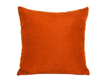 Solid Dark Orange Pillow Cover,Luxury Sofa Cushion,Modern Sofa Cushion,Outdoor Pillow,Throw Cushions, solid color pillow cover