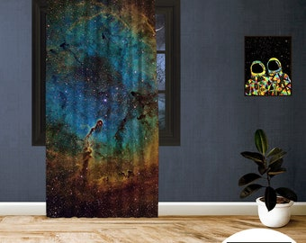 Space-X-XII,Window Curtain 1 panel set,Blackout,Room darkering,Custom size,Made to order,Thermal insulated,Noise reducing