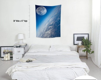 Space-X,Fabric Wall Hanging,Tapestry,Textile Wall Hang,Wall Decoration,Custom Sİze