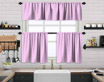 Pink Boho Kitchen Curtain,African Mud,Window Valance,Blackout,Sheer,Decorative,Home Decor,Caffe Curtain,Custom Size,Made to order,Rose Pink