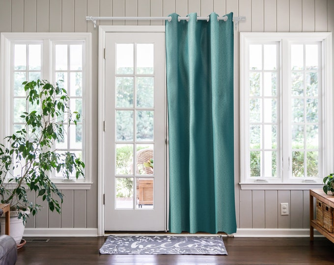 Lake Green Solid,Door Curtain 2 panel sets,Room Divider,Space Divider,Extra Long Door Curtain,Custom Order,Thermal insulated,Noise reducing