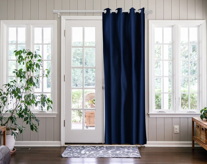 Royal Blue  Solid,Door Curtain 2 panel sets,Room Divider,Space Divider,Extra Long Door Curtain,Custom Order,Thermal insulated,Noise reducing