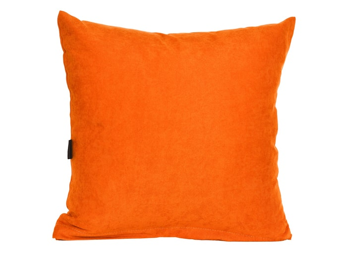 Solid Light Orange Pillow Cover,Luxury Sofa Cushion,Modern Sofa Cushion,Outdoor Pillow,Throw Cushions, solid color pillow cover