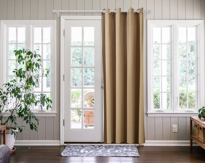 Camel Solid,Door Curtain 2 panel sets,Room Divider,Space Divider,Extra Long Door Curtain,Custom Order,Thermal insulated,Noise reducing