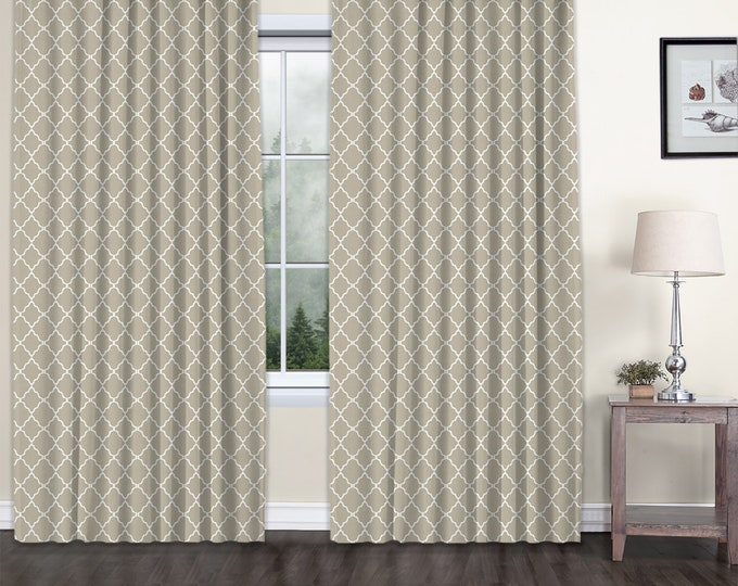 Classic Damask,Beige,Window Curtain 2 panels Set,Blackout,Room Darkering,Custom size,Termal insulated,Noise reducing,Window Treatments