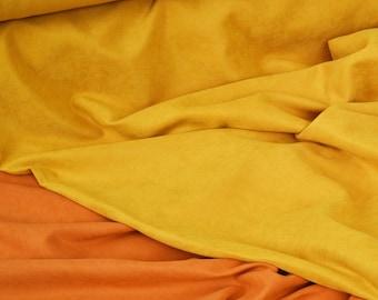 Mustard Yellow Velvet Look Fabric by the Yard,Velvet Look Fabric, Velvet Yardage, Fabric Per Yard,Velvet Upholstery,Non Stretch Velvet
